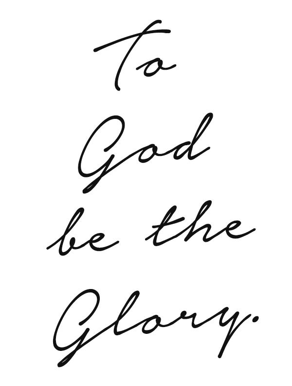 My Humility His Glory 1